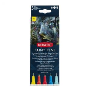 Derwent Paint Pens Set 5 Tiralíneas Palette #01