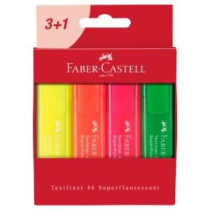 Faber-Castell Set 4 Destacadores Flúor